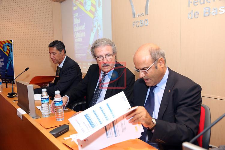 Xavier Garcia Albiol, Joan Fa & Santi Siquier. Presentacion XXXIII Lliga Nacional Catalana ACB 2012.