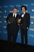 BEVERLY HILLS, CA - FEBRUARY 3: Guillermo del Toro and Damien Chazelle in the press room at the 70th Annual DGA Awards at The Beverly Hilton Hotel in Beverly Hills, California on February 3, 2018. <br /> CAP/MPI/FS<br /> &copy;FS/MPI/Capital Pictures