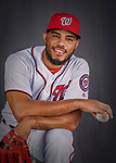 22 February 2019: Washington Nationals pitcher Jimmy Cordero poses for his Photo Day portrait at the Ballpark of the Palm Beaches in West Palm Beach, Florida. Mandatory Credit: Ed Wolfstein Photo *** RAW (NEF) Image File Available ***