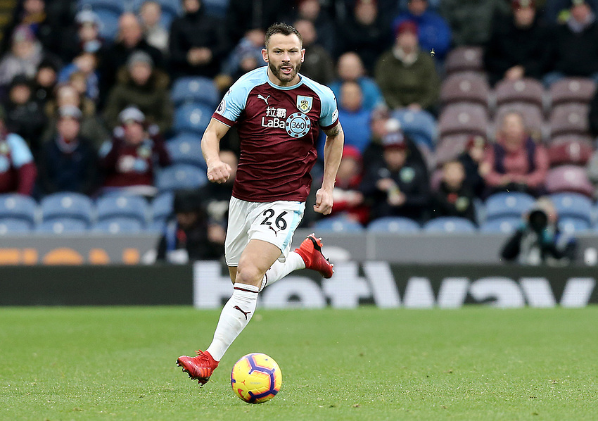 Burnley's Phillip Bardsley<br /> <br /> Photographer Rich Linley/CameraSport<br /> <br /> The Premier League - Burnley v Brighton and Hove Albion - Saturday 8th December 2018 - Turf Moor - Burnley<br /> <br /> World Copyright © 2018 CameraSport. All rights reserved. 43 Linden Ave. Countesthorpe. Leicester. England. LE8 5PG - Tel: +44 (0) 116 277 4147 - admin@camerasport.com - www.camerasport.com