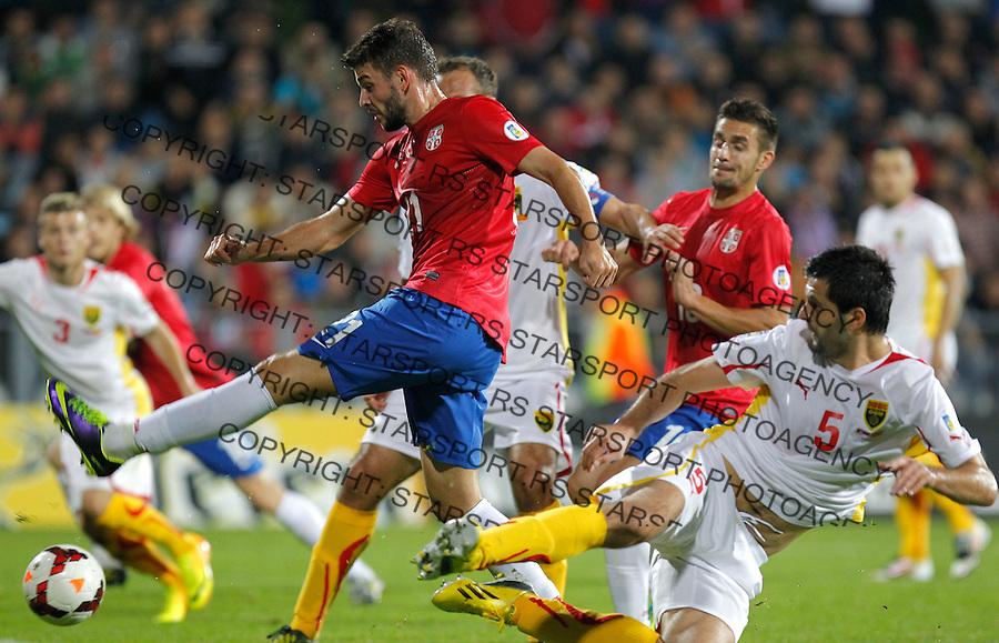 Fudbal Soccer<br /> World Cup 2014 qualifiers match<br /> Serbia v Macedonia<br /> Filip Djordjevic (C)<br /> Jagodina, 15.10.2013.<br /> foto: Srdjan Stevanovic/Starsportphoto &copy;