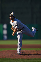 Clinton LumberKings pitcher Eddie Campbell (29) delivers a pitch during a game against the Burlington Bees on August 20, 2015 at Community Field in Burlington, Iowa.  Burlington defeated Clinton 3-2.  (Mike Janes/Four Seam Images)