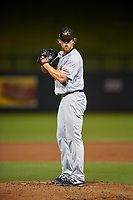 Mesa Solar Sox relief pitcher Jonathan Teaney (16), of the Cleveland Indians organization, during an Arizona Fall League game against the Salt River Rafters on September 19, 2019 at Salt River Fields at Talking Stick in Scottsdale, Arizona. Salt River defeated Mesa 4-1. (Zachary Lucy/Four Seam Images)