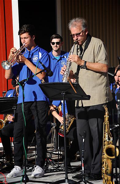 Rocklin Jazz Festival Rob Verdi Saxophobia performing at the Rocklin Jazz Festival at Quarry Park, Rocklin, CA