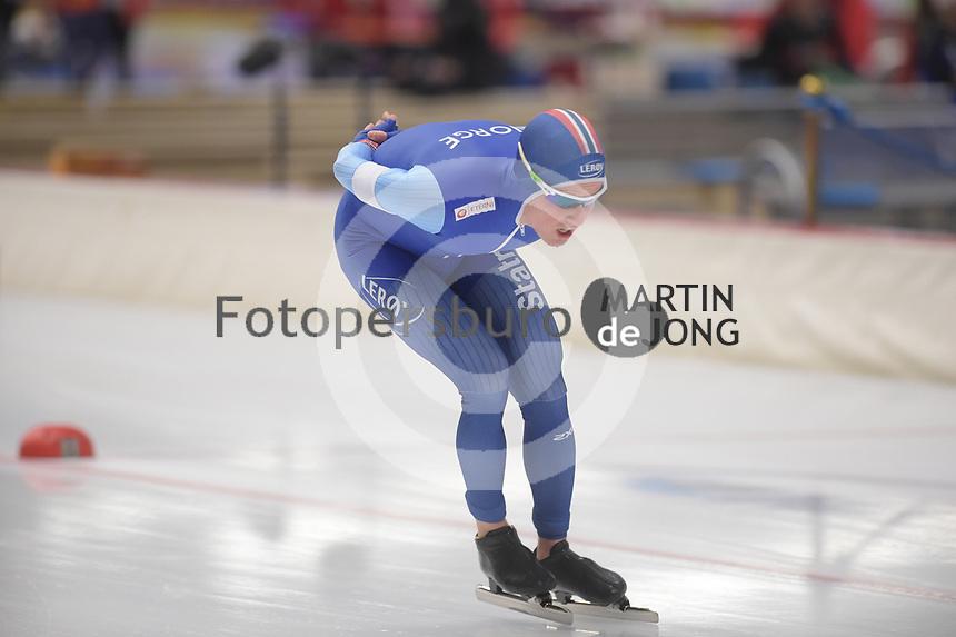 SPEEDSKATING: INZELL: Max Aicher Arena, 09-02-2019, ISU World Single Distances Speed Skating Championships, 10.000m Men, Ole Bjørnsmoen Næss (NOR), ©photo Martin de Jong