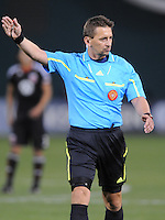 Major League Soccer Referee Alex Prus.  DC United defeated The Kansas City Wizards  2-0 at RFK Stadium, Wednesday  May 5, 2010.