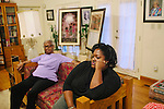 Maxine McNair (left to right) sits next to her daughter Kimberly Brock in her Birmingham, Alabama home August 13, 2013. Maxine's daughter Denise McNair was the youngest victim who died in a bomb blast at 16th Street Baptist Church September 15, 1963.