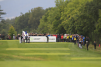 Thomas Pieters (BEL) on the 5th tee during Round 3 of the D+D Real Czech Masters at the Albatross Golf Resort, Prague, Czech Rep. 02/09/2017<br /> Picture: Golffile | Thos Caffrey<br /> <br /> <br /> All photo usage must carry mandatory copyright credit     (&copy; Golffile | Thos Caffrey)