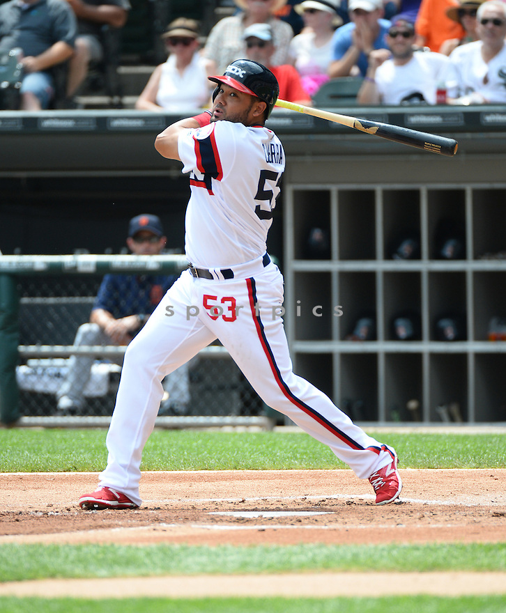 Chicago White Sox Melky Cabrera (53) during a game against the Detroit Tigers on July 24, 2016 at US Cellular Field in Chicago, IL. The White Sox beat the Tigers 5-4.