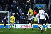 Blackburn Rovers' Darragh Lenihan takes a high ball<br /> <br /> Photographer Rachel Holborn/CameraSport<br /> <br /> The EFL Sky Bet Championship - Preston North End v Blackburn Rovers - Saturday 24th November 2018 - Deepdale Stadium - Preston<br /> <br /> World Copyright © 2018 CameraSport. All rights reserved. 43 Linden Ave. Countesthorpe. Leicester. England. LE8 5PG - Tel: +44 (0) 116 277 4147 - admin@camerasport.com - www.camerasport.com