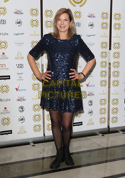 Penny Smith at the National Film Awards at the Porchester Hall, London on  Wednesday 28 March 2018 <br /> CAP/ROS<br /> &copy;ROS/Capital Pictures