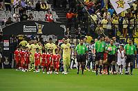 Ciudad de México 05/Abril/2016.<br /> Se llevó a cabo partido de vuelta de la semifinal de Concachampions 2016, entre las escuadras del América Vs Santos ambos pertenecientes a la Liga Mx.<br /> El equipo de los azulcremas busca el bicampeonato de la Liga de Campeones de la Concacaf, el cual llega con una ligera la ventaja al haber empatado como visitante (0-0) el partido de ida de semifinales.<br /> Dicho partido culmino en un resultado a favor de la escuadra de las Águilas del América el cual pudo concretar un gol, en el primer tiempo extra, mientras que el equipo del Santos Laguna, no pudo anotar ningún gol, pese a que ambos equipos se esforzaron por dejar todo en la cancha.<br /> Así mismo los azulcremas, van rumbo a el bicampeonato de la Liga de Campeones de la Concacaf y con ello al representante de la Confederación en el Mundial de Clubes de la FIFA 2016.