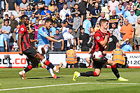David Silva of Manchester City takes a shot  during AFC Bournemouth vs Manchester City, Premier League Football at the Vitality Stadium on 25th August 2019