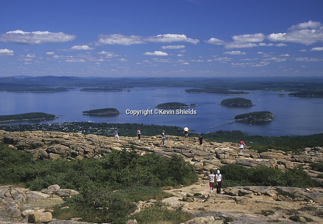 View from Cadillac Mountain, Maine, USA