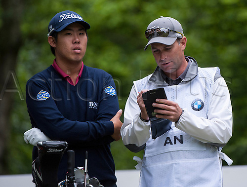 23.05.2015. Wentworth, England. BMW PGA Golf Championship. Round 3.  Byeong Hun An [KOR] 5th tee, during the third round of the 2015 BMW PGA Championship from The West Course Wentworth Golf Club