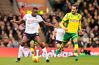 Bolton Wanderers' Sammy Ameobi shields possession from Norwich City's Mario Vrancic<br /> <br /> Photographer David Shipman/CameraSport<br /> <br /> The EFL Sky Bet Championship - Norwich City v Bolton Wanderers - Saturday 8th December 2018 - Carrow Road - Norwich<br /> <br /> World Copyright &copy; 2018 CameraSport. All rights reserved. 43 Linden Ave. Countesthorpe. Leicester. England. LE8 5PG - Tel: +44 (0) 116 277 4147 - admin@camerasport.com - www.camerasport.com