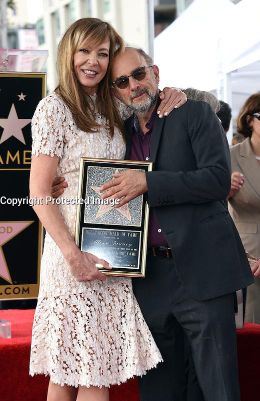 Allison Janney + Richard Schiff @ her Walk of Fame ceremony held @ 6100 Hollywood blvd. October 17, 2016