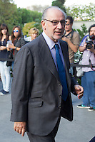 Rodrigo Rato visits San Isidro funeral home following the death of Miguel Boyer in Madrid, Spain. September 29, 2014. (ALTERPHOTOS/Victor Blanco) /nortephoto.com