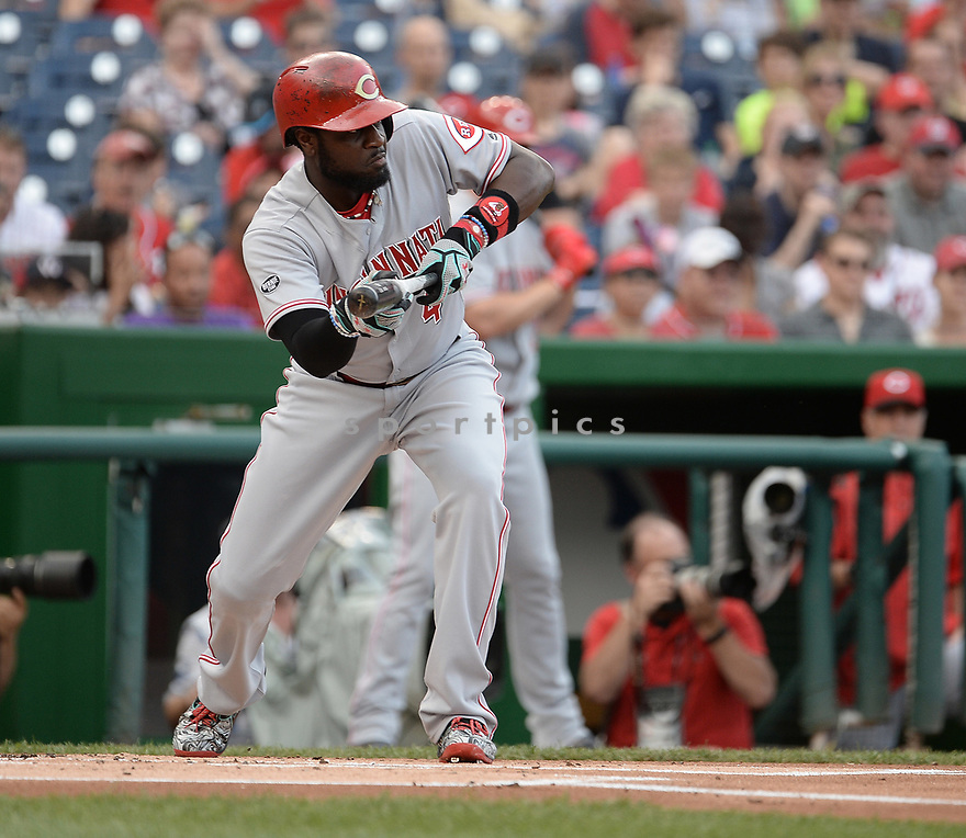 CIncinnati Reds Brandon Phillips (4) during a game against the Washington Nationals on July 1, 2016 at Nationals Park in Washington DC. The Nationals beat the Reds 3-2.