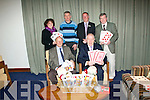 LAUNCH: Pictured at the launch of the International Bridge Congress, which will run from December 28th to January 1st next, at the Manor West Hotel, Tralee in aid of Chernobyl Children last Friday night were front l-r: Billy Mullins (County development officer, Bridge society) and Minister Jimmy Deenihan. Back l-r: Joan Griffin (Chernobyl Children's Fund treasurer), Tom Clear (Fund chairperson), Rory Connell (Manor West Hotel, asst manager) and Tom Hardiman (Tralee International Bridge Congress president).