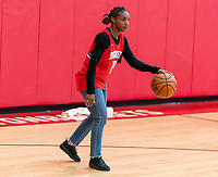 HOUSTON, TX - FEBRUARY 1: Crystal Dunn #19 of the United States dribbles at Houston Rockets Training Center on February 1, 2020 in Houston, Texas.