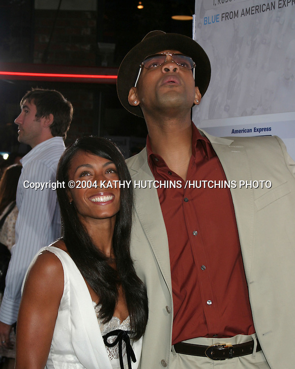 ©2004 KATHY HUTCHINS /HUTCHINS PHOTO.I, ROBOT PREMIERE.WESTWOOD, CA.JULY 7, 2004..JADA PINKETT SMITH.WILL SMITH