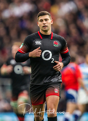 11th November 2017, Twickenham Stadium, Loughborough, England; Autumn International Series, England versus Argentina;  Ben Youngs in action for England