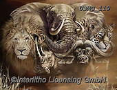 Steven-Michael, REALISTIC ANIMALS, REALISTISCHE TIERE, ANIMALES REALISTICOS, paintings+++++,USMG119,#a#, EVERYDAY,elephant,elephants ,puzzle,puzzles