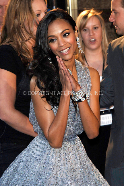 """WWW.ACEPIXS.COM . . . . .  ..... . . . . US SALES ONLY . . . . .....April 20 2009, London....Actress Zoe Saldana at the UK Film Premiere of """"Star Trek"""" held at the Empire Leicester Square on April 20 2009 in London....Please byline: FAMOUS-ACE PICTURES... . . . .  ....Ace Pictures, Inc:  ..tel: (212) 243 8787 or (646) 769 0430..e-mail: info@acepixs.com..web: http://www.acepixs.com"""