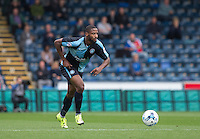 Janoi Donacien of Wycombe Wanderers in action during the Sky Bet League 2 match between Wycombe Wanderers and Hartlepool United at Adams Park, High Wycombe, England on 5 September 2015. Photo by Andy Rowland.