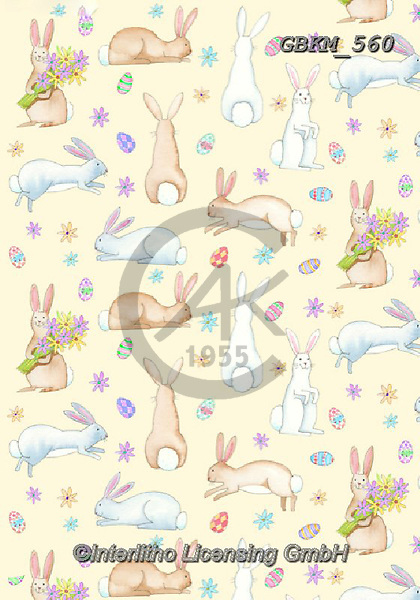 Kate, GIFT WRAPS, GESCHENKPAPIER, PAPEL DE REGALO, paintings+++++rabbits.,GBKM560,#gp#, EVERYDAY