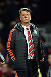 Louis Van Gaal, manager of Manchester United dejected during the UEFA Europa League match at Old Trafford. Photo credit should read: Philip Oldham/Sportimage