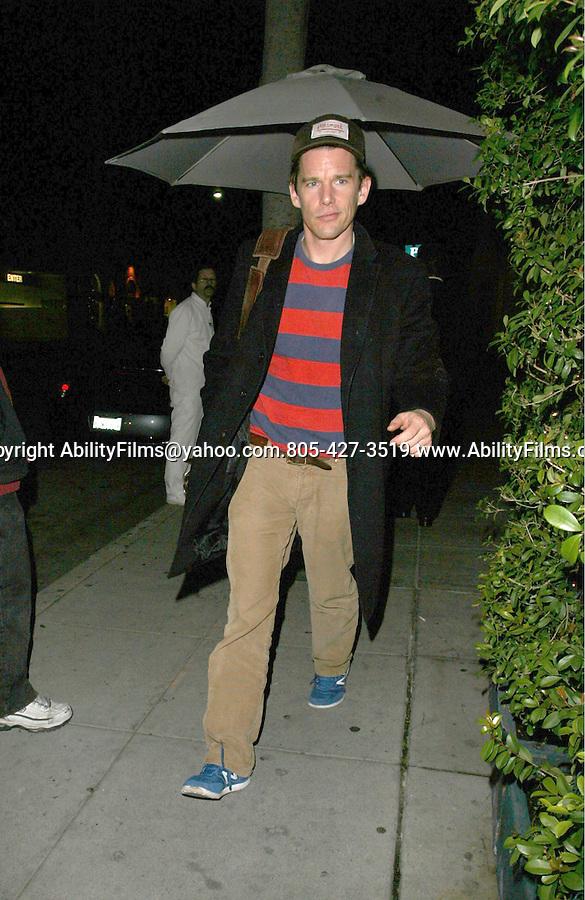 .Feb 23rd 2012 ...Ethan Hawk dine at Mr,Chow in Beverly Hills...AbilityFilms@yahoo.com.805-427-3519.www.AbilityFilms.com.