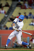 February 28 2010: Jeff Gelalich of UCLA during game against USC at Dodger Stadium in Los Angeles,CA.  Photo by Larry Goren/Four Seam Images