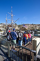 Tourists At The Pilgrim In Dana Point