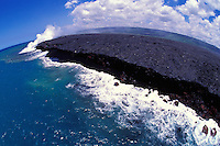A new land being created off the coast of the Big Island