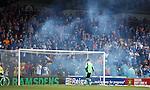 Rangers fans pyro at kick-off