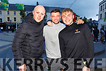 Donovan Mortell, Brian Kennedy and Aaron McCarthy enjoying the Freshers Fest in the Square on Tuesday night.