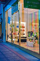 Kate Spade, El Paseo Drive, Palm Desert, CA, Boutiques; famous; retailers; fashion; haute couture; shopping; Mannequins; near Palm Springs; Palm Trees; California; Coachella Valley; Desert;
