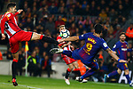League Santander 2017/2018. Game: 25.<br /> FC Barcelona vs Girona FC: 6-1.<br /> Pedro Alcala vs Luis Suarez.