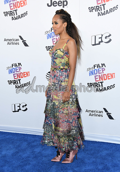 03 March 2018 - Santa Monica, California - Kerry Washington. 2018 Film Independent Spirit Awards -Arrivals, held at the Santa Monica Pier. Photo Credit: Birdie Thompson/AdMedia