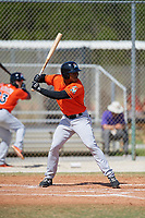 Miami Marlins Stone Garrett (31) during a Minor League Spring Training game against the St. Louis Cardinals on March 26, 2018 at the Roger Dean Stadium Complex in Jupiter, Florida.  (Mike Janes/Four Seam Images)