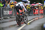 Vasil Kiryienka (BLR) Team Sky in action during Stage 1, a 14km individual time trial around Dusseldorf, of the 104th edition of the Tour de France 2017, Dusseldorf, Germany. 1st July 2017.<br /> Picture: Eoin Clarke | Cyclefile<br /> <br /> <br /> All photos usage must carry mandatory copyright credit (&copy; Cyclefile | Eoin Clarke)