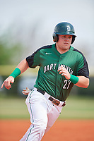 Dartmouth Big Green first baseman Michael Ketchmark (27) running the bases during a game against the Southern Maine Huskies on March 23, 2017 at Lake Myrtle Park in Auburndale, Florida.  Dartmouth defeated Southern Maine 9-1.  (Mike Janes/Four Seam Images)