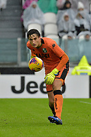 1st December 2019; Allianz Stadium, Turin, Italy; Serie A Football, Juventus versus Sassuolo; Stefano Turati the goalkeeper of Sassuolo puts the ball back into play - Editorial Use