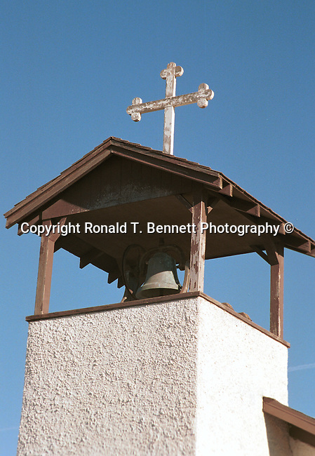 Church bell tower with bell Arizona, ore, ore genesis, placer mining,Arizona, State of Arizona, Southwest, desert, 48th State, Last of contiguous states, Phoenix, Scottsdale, Grand Canyon, Indian reservations, four corners, desert landscape, exrophyte, western United States, Southwest, Mountains, plateaus, ponderosa pines, Colorado River,  Mountain lion, Navajo Nation, No daylight savings time, Arizona Territory, Arizona, AR, Ariz, Airzona, Arizonia, Arizone, AZ, Fine Art Photography by Ron Bennett, Fine Art, Fine Art photography, Art Photography, Copyright RonBennettPhotography.com ©
