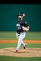 Chattanooga Lookouts relief pitcher Todd Van Steensel (23) delivers a pitch during a game against the Jackson Generals on April 27, 2017 at The Ballpark at Jackson in Jackson, Tennessee.  Chattanooga defeated Jackson 5-4.  (Mike Janes/Four Seam Images)