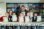 Scriobh Leabhar annual awards for Kerry schools at The Education Centre, Drumtacker on Monday. Pictured l-r Ava Ni Bhugleen, Molly Ni Chonchuir, Tadhg Ni Chonochuir, Joslyn O Ceallaigh, Rose Ni Brosnachain, Elish O Brosnachain, Brian O Kelly and Ian O Begley from Clogher National School.