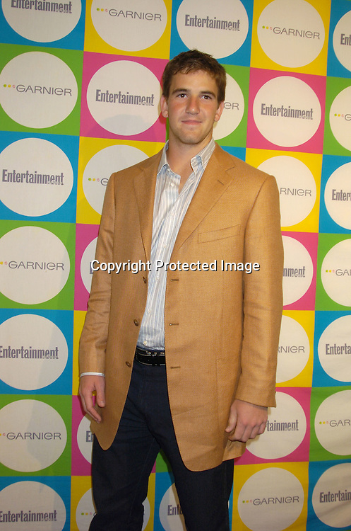 Eli Manning ..at The Entertainment Weekly Must List Party on June 16, 2005 at Deep. ..Photo by Robin Platzer, Twin Images