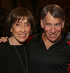 """Susan Birkenhead and Stephen Schwartz attend the Opening Night performance afterparty for ENCORES! Off-Center production of """"Working - A Musical""""  at New York City Center on June 26, 2019 in New York City."""